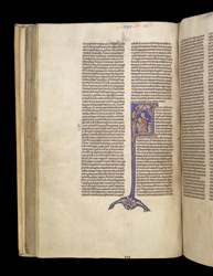 Historiated Initial With Hannah And Elkanah In The Temple, In 'The Bible Of William Of Hales'